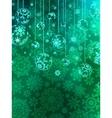 Elegant christmas bauble background vector