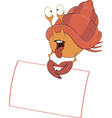 Crab with the empty blank cartoon vector