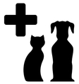 Veterinarian medicine sign vector
