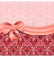 Gentle pink background with victorian pattern vector
