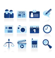 Computer and business icons vector