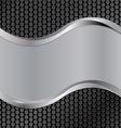 Wave silver black vector
