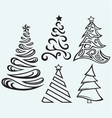Collection of christmas fur-trees vector