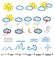 Meteo icon vector