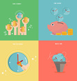 Element of time management concept icon in flat vector