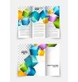 3d cubes brochure design vector