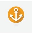 Anchor nautical symbol icon vector