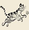 Cat ornament vector
