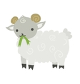 Funny cartoon sheep mascot vector