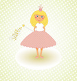 Little princess congratulations card vector