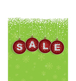 Red winter sale tags vector
