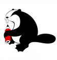 Beaver original silhouette vector