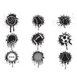 Splatter balls icon vector
