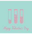 Love test tubes with hearts valentines day vector