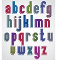 Retro font bold condensed letters typeface vector