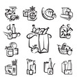 Set of food and goods icons vector