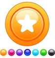 Star circle button vector