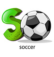 A letter s for soccer vector