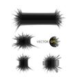 Ink explosion set banner design template digital vector