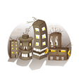 Cartoon spooky houses vector