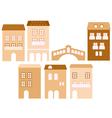 Old european town houses vector