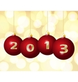 Glass christmas balls 2013 vector
