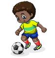 A black soccer player vector
