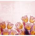Retro watercolor tulips vector
