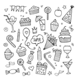 Set of different hand drawn holiday elements vector