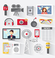 Set of icons telecommunications vector