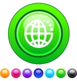 Planet circle button vector