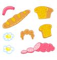 Cartoon food set vector