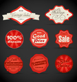 Vintage discount shopping labels vector