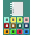 Ring binder calendar notepad - icon vector