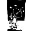 Arrow to the sky vector