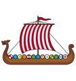 Viking ship vector
