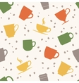 Colorful teacups seamless pattern vector