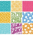 Set of nine business seamless patterns backgrounds vector