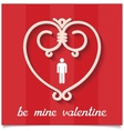 Be mine valentine design card vector