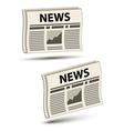 Wavy newspaper icons vector