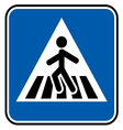 Pedestrian sign resize vector