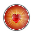 Heart symbol round red vector