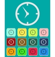 Clock face - icon isolated vector