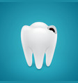 Start teeth caries vector