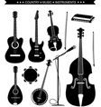 Country music instruments isolated on white vector