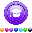 Graduation circle button vector