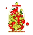 Bank with apple jam for your design vector