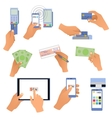 All for business payments human hands holding vector