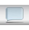 Transparent glass speech bubble vector