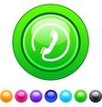 Call circle button vector